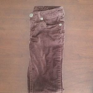 Girls corduroy pants, brown, size 20, Justice